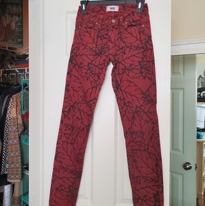 Straight leg patterned Paige Jeans